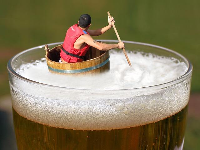 plavání v pivu