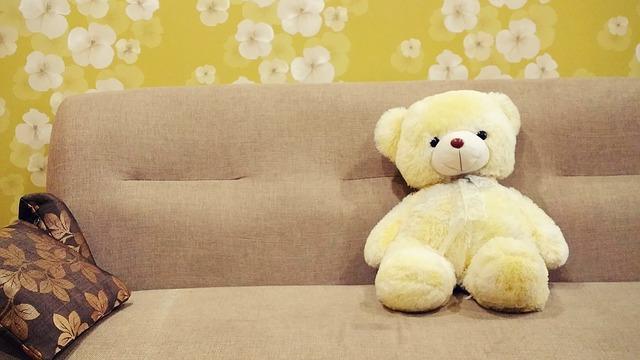 medvěd na pohovce